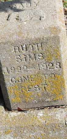 SIMS, RUTH - Pulaski County, Arkansas | RUTH SIMS - Arkansas Gravestone Photos