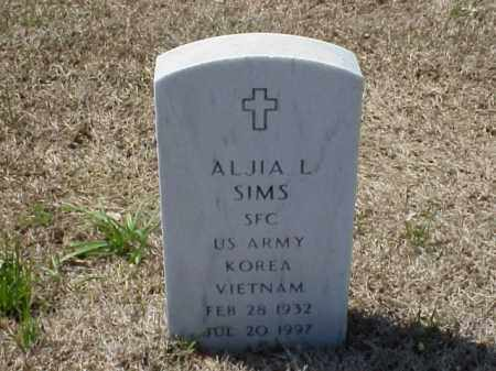 SIMS (VETERAN 2 WARS), ALJIA L - Pulaski County, Arkansas | ALJIA L SIMS (VETERAN 2 WARS) - Arkansas Gravestone Photos