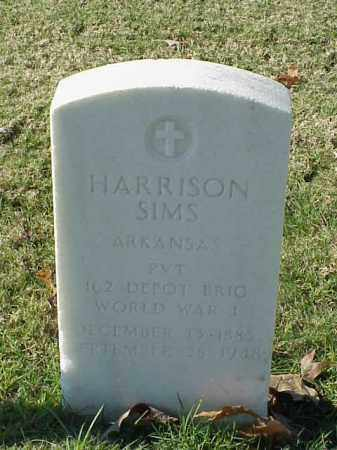 SIMS (VETERAN WWI), HARRISON - Pulaski County, Arkansas | HARRISON SIMS (VETERAN WWI) - Arkansas Gravestone Photos