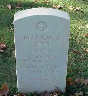 SIMS (VETERAN WWI), MARION B - Pulaski County, Arkansas | MARION B SIMS (VETERAN WWI) - Arkansas Gravestone Photos