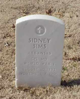 SIMS (VETERAN WWI), SIDNEY - Pulaski County, Arkansas | SIDNEY SIMS (VETERAN WWI) - Arkansas Gravestone Photos