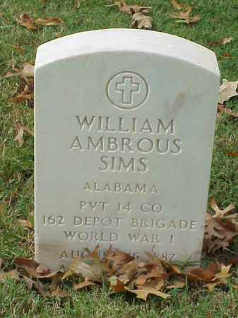 SIMS (VETERAN WWI), WILLIAM AMBROUS - Pulaski County, Arkansas | WILLIAM AMBROUS SIMS (VETERAN WWI) - Arkansas Gravestone Photos