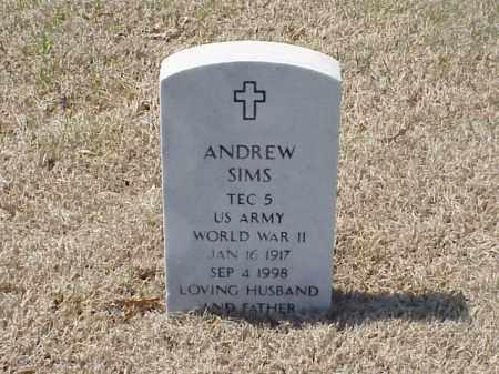 SIMS (VETERAN WWII), ANDREW - Pulaski County, Arkansas | ANDREW SIMS (VETERAN WWII) - Arkansas Gravestone Photos
