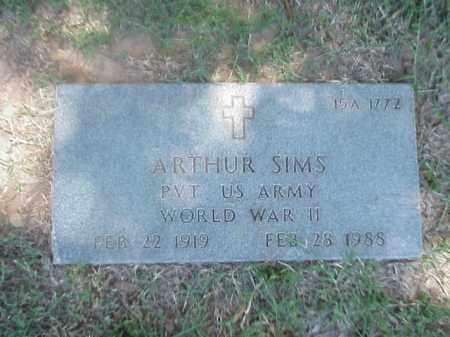 SIMS (VETERAN WWII), ARTHUR - Pulaski County, Arkansas | ARTHUR SIMS (VETERAN WWII) - Arkansas Gravestone Photos