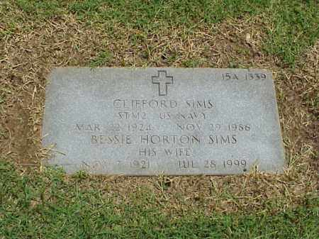 SIMS (VETERAN WWII), CLIFFORD - Pulaski County, Arkansas | CLIFFORD SIMS (VETERAN WWII) - Arkansas Gravestone Photos