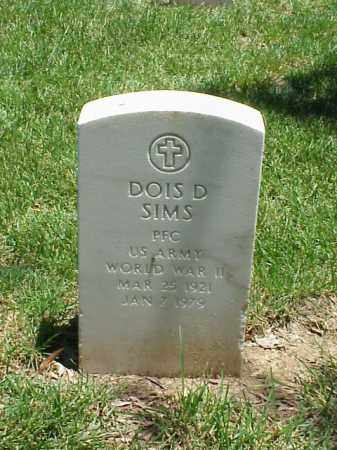 SIMS (VETERAN WWII), DOIS D - Pulaski County, Arkansas | DOIS D SIMS (VETERAN WWII) - Arkansas Gravestone Photos