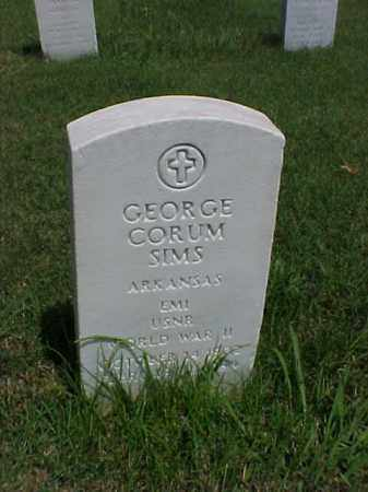 SIMS (VETERAN WWII), GEORGE CORUM - Pulaski County, Arkansas | GEORGE CORUM SIMS (VETERAN WWII) - Arkansas Gravestone Photos