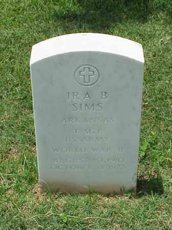 SIMS (VETERAN WWII), IRA B - Pulaski County, Arkansas | IRA B SIMS (VETERAN WWII) - Arkansas Gravestone Photos