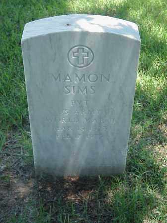 SIMS (VETERAN WWII), MAMON - Pulaski County, Arkansas | MAMON SIMS (VETERAN WWII) - Arkansas Gravestone Photos
