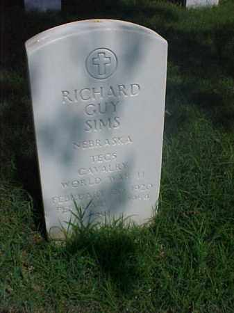 SIMS (VETERAN WWII), RICHARD GUY - Pulaski County, Arkansas | RICHARD GUY SIMS (VETERAN WWII) - Arkansas Gravestone Photos