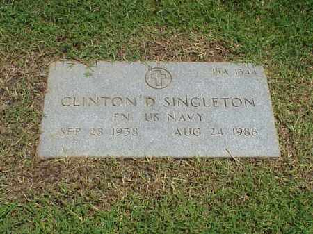 SINGLETON (VETERAN), CLINTIN D - Pulaski County, Arkansas | CLINTIN D SINGLETON (VETERAN) - Arkansas Gravestone Photos