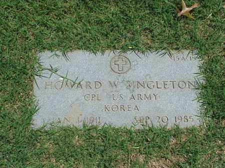 SINGLETON (VETERAN KOR), HOWARD W - Pulaski County, Arkansas | HOWARD W SINGLETON (VETERAN KOR) - Arkansas Gravestone Photos