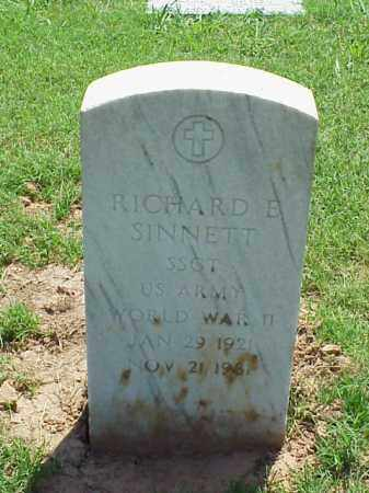 SINNETT (VETERAN WWII), RICHARD E - Pulaski County, Arkansas | RICHARD E SINNETT (VETERAN WWII) - Arkansas Gravestone Photos