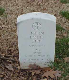 SIPP  (VETERAN WWII), JOHN LOUIS - Pulaski County, Arkansas | JOHN LOUIS SIPP  (VETERAN WWII) - Arkansas Gravestone Photos