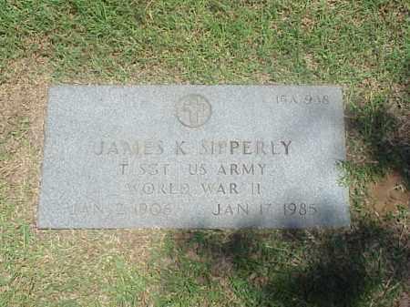 SIPPERLY (VETERAN WWII), JAMES K - Pulaski County, Arkansas   JAMES K SIPPERLY (VETERAN WWII) - Arkansas Gravestone Photos