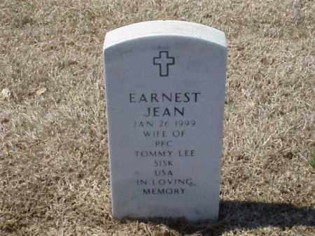 SISK, EARNEST JEAN - Pulaski County, Arkansas | EARNEST JEAN SISK - Arkansas Gravestone Photos