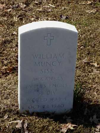 SISK (VETERAN WWI), WILLIAM MUNCY - Pulaski County, Arkansas | WILLIAM MUNCY SISK (VETERAN WWI) - Arkansas Gravestone Photos