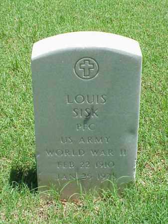 SISK (VETERAN WWII), LOUIS - Pulaski County, Arkansas | LOUIS SISK (VETERAN WWII) - Arkansas Gravestone Photos