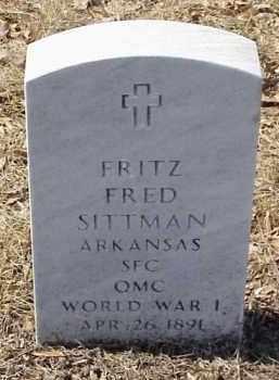 SITTMAN  (VETERAN WWI), FRITZ FRED - Pulaski County, Arkansas | FRITZ FRED SITTMAN  (VETERAN WWI) - Arkansas Gravestone Photos