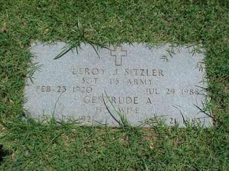 SITZLER (VETERAN WWII), LEROY J - Pulaski County, Arkansas | LEROY J SITZLER (VETERAN WWII) - Arkansas Gravestone Photos