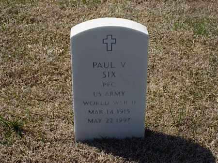 SIX (VETERAN WWII), PAUL VIRGIL - Pulaski County, Arkansas | PAUL VIRGIL SIX (VETERAN WWII) - Arkansas Gravestone Photos