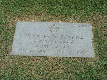 SKARDA (VETERAN WWII), CHARLES WESLEY - Pulaski County, Arkansas | CHARLES WESLEY SKARDA (VETERAN WWII) - Arkansas Gravestone Photos