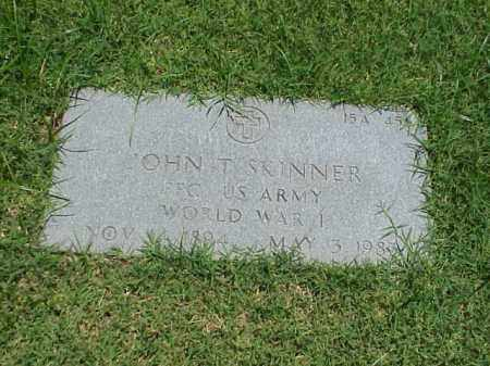 SKINNER (VETERAN WWI), JOHN T - Pulaski County, Arkansas | JOHN T SKINNER (VETERAN WWI) - Arkansas Gravestone Photos