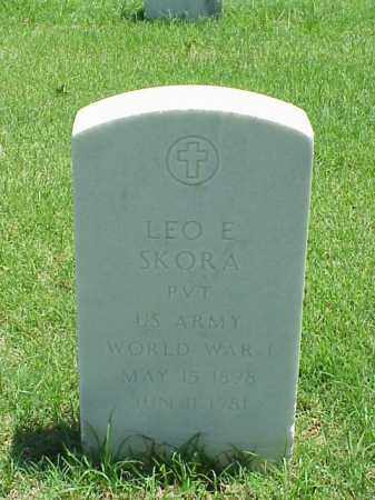 SKORA (VETERAN WWI), LEO E - Pulaski County, Arkansas | LEO E SKORA (VETERAN WWI) - Arkansas Gravestone Photos