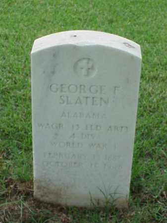 SLATEN (VETERAN WWI), GEORGE F - Pulaski County, Arkansas | GEORGE F SLATEN (VETERAN WWI) - Arkansas Gravestone Photos