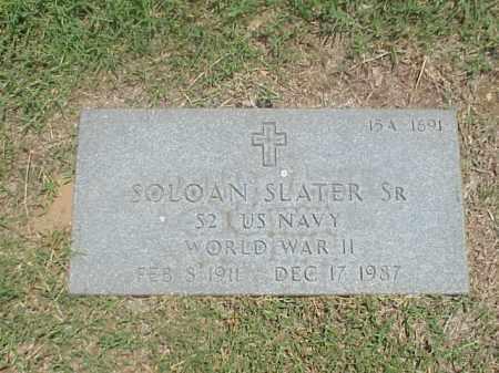 SLATER, SR (VETERAN WWII), SOLOAN - Pulaski County, Arkansas | SOLOAN SLATER, SR (VETERAN WWII) - Arkansas Gravestone Photos