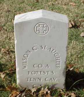SLAUGHTER (VETERAN CSA), WILSON C - Pulaski County, Arkansas | WILSON C SLAUGHTER (VETERAN CSA) - Arkansas Gravestone Photos