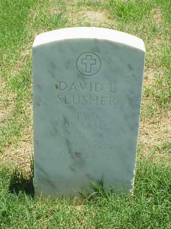 SLUSHER (VETERAN WWII), DAVID L - Pulaski County, Arkansas | DAVID L SLUSHER (VETERAN WWII) - Arkansas Gravestone Photos