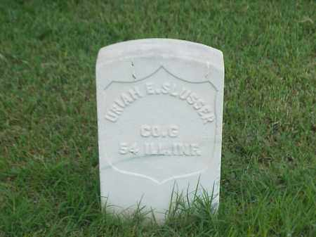 SLUSSER (VETERAN UNION), URIAH E - Pulaski County, Arkansas | URIAH E SLUSSER (VETERAN UNION) - Arkansas Gravestone Photos