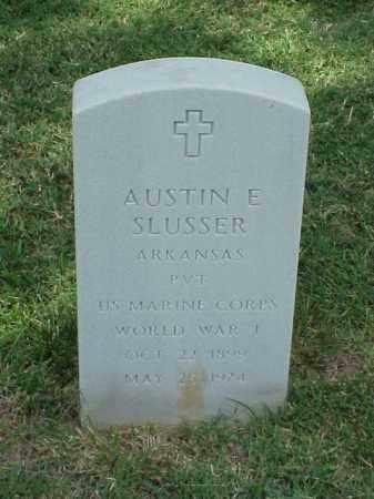 SLUSSER (VETERAN WWI), AUSTIN E - Pulaski County, Arkansas | AUSTIN E SLUSSER (VETERAN WWI) - Arkansas Gravestone Photos