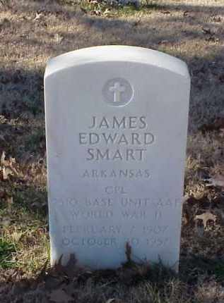 SMART (VETERAN WWII), JAMES EDWARD - Pulaski County, Arkansas | JAMES EDWARD SMART (VETERAN WWII) - Arkansas Gravestone Photos