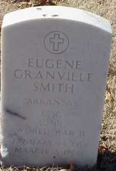 SMITH  (VETERAN WWII), EUGENE GRANVILLE - Pulaski County, Arkansas | EUGENE GRANVILLE SMITH  (VETERAN WWII) - Arkansas Gravestone Photos