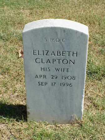 CLAPTON SMITH, ELIZABETH - Pulaski County, Arkansas | ELIZABETH CLAPTON SMITH - Arkansas Gravestone Photos