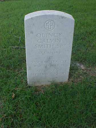 SMITH, SR (VETERAN WWII), QUINCY CALVIN - Pulaski County, Arkansas | QUINCY CALVIN SMITH, SR (VETERAN WWII) - Arkansas Gravestone Photos