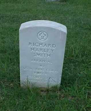 SMITH (VETERAN KOR), RICHARD HARLEY - Pulaski County, Arkansas | RICHARD HARLEY SMITH (VETERAN KOR) - Arkansas Gravestone Photos