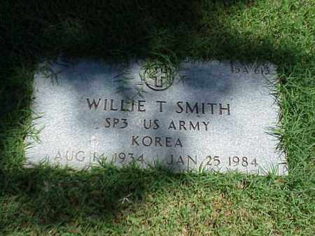 SMITH (VETERAN KOR), WILLIE T - Pulaski County, Arkansas | WILLIE T SMITH (VETERAN KOR) - Arkansas Gravestone Photos