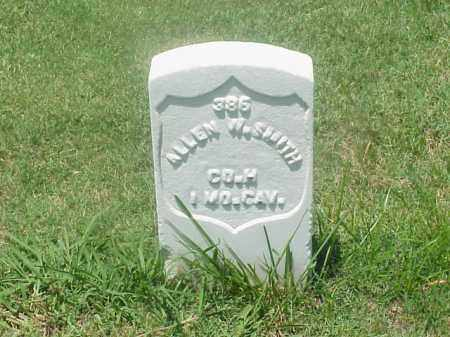 SMITH (VETERAN UNION), ALLEN W - Pulaski County, Arkansas | ALLEN W SMITH (VETERAN UNION) - Arkansas Gravestone Photos