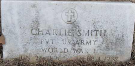 SMITH (VETERAN WWI), CHARLIE - Pulaski County, Arkansas | CHARLIE SMITH (VETERAN WWI) - Arkansas Gravestone Photos