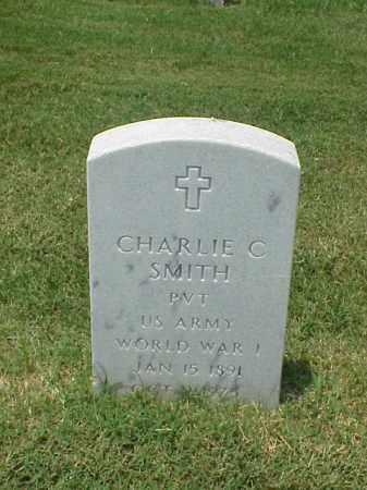 SMITH (VETERAN WWI), CHARLIE C - Pulaski County, Arkansas | CHARLIE C SMITH (VETERAN WWI) - Arkansas Gravestone Photos