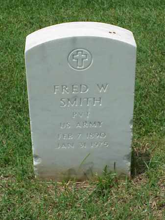 SMITH (VETERAN WWI), FRED W - Pulaski County, Arkansas | FRED W SMITH (VETERAN WWI) - Arkansas Gravestone Photos