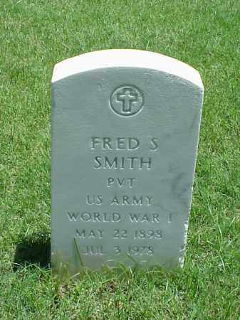 SMITH (VETERAN WWI), FRED S - Pulaski County, Arkansas | FRED S SMITH (VETERAN WWI) - Arkansas Gravestone Photos
