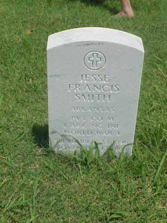 SMITH (VETERAN WWI), JESSE FRANCIS - Pulaski County, Arkansas | JESSE FRANCIS SMITH (VETERAN WWI) - Arkansas Gravestone Photos