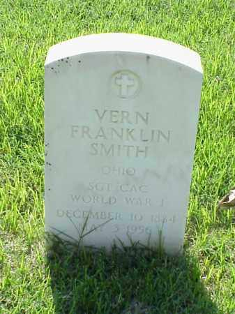 SMITH (VETERAN WWI), VERN FRANKLIN - Pulaski County, Arkansas | VERN FRANKLIN SMITH (VETERAN WWI) - Arkansas Gravestone Photos
