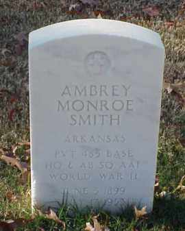 SMITH (VETERAN WWII), AMBREY MONROE - Pulaski County, Arkansas | AMBREY MONROE SMITH (VETERAN WWII) - Arkansas Gravestone Photos