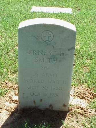 SMITH (VETERAN WWII), ERNEST H - Pulaski County, Arkansas | ERNEST H SMITH (VETERAN WWII) - Arkansas Gravestone Photos