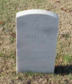SMITH (VETERAN WWII), GEORGE H - Pulaski County, Arkansas | GEORGE H SMITH (VETERAN WWII) - Arkansas Gravestone Photos